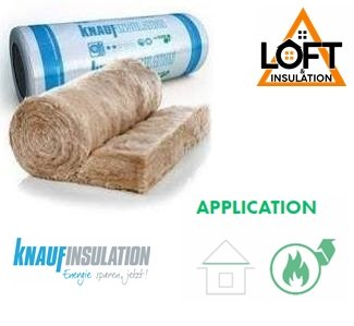 Knauf Earthwool 200mm Loft Roll 44 Combi-Cut