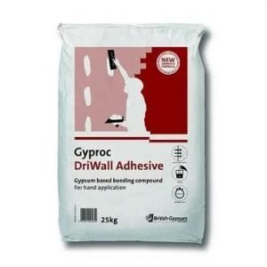 This bonding compound refers to the gypsum-based adhesive for the purpose of using for direct bonding Plasterboard and Metal Furring Channels. This is easy to apply directly to masonry backgrounds and swiftest way to line your walls. Applications This is a multi-purpose adhesive that is used for Plasterboards, Insulating Laminates and Metal Furring Channel. This should be avoided for use with vapourcheck or moisture resistant boards. In case of extremes in background suction, use Betokontakt and High Suction Plaster Primer. How to use: This is used with a single layer of Insulating Laminate range or plasterboard. This bonding compound is utilized when simplicity of operations and minimum cost is required. It is also to be used when the background is dry, sound and plumb and when the stand-off is of 10-25mm. Features: This is applied quickly in order to receive Plasterboard This system can be used in the background for overriding nominal irregularities This shall hold shallow service runs Specifications: Weight: 25kg Usage: Bonding Product Range: Bonding Compound Setting time: 2-3 hours Non-combustible to BS476: Part 4: 1970. Use within: 4 months This product has a use by date and once delivered and signed for can not be returned.