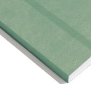 Knauf Moisture Panel Plasterboard Tapered Edge - 2.4m x 1.2m x 12.5mm | LoftandInsulation