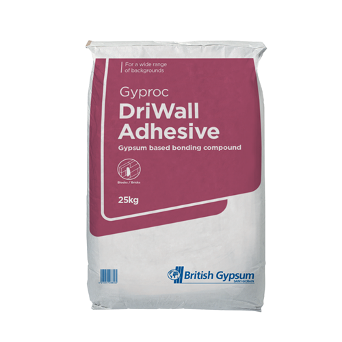 British Gypsum Gyproc Driwall Adhesive 25kg | Loftandinsulation.co.uk