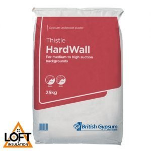 BRITISH GYPSUM THISTLE HARDWALL PLASTER 25KG BAG