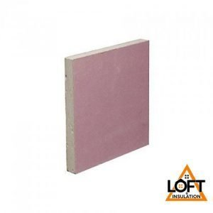 British Gypsum Gyproc FireLine PINK Plasterboard 12.5mm 2.4m x 1.2m Tapered Edge